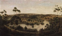 the yarra bend from studley park by william short sr.