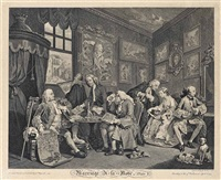 marriage à-la-mode (set of 6) by william hogarth