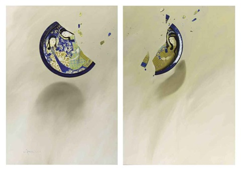 memories of annihilation diptych by aydin aghdashloo