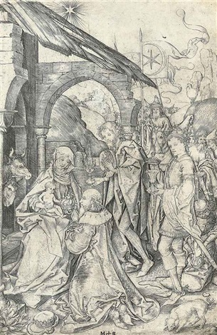 the adoration of the magi by martin schongauer