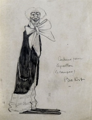 costume for le compère by leon bakst