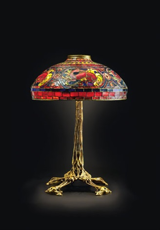 salamander table lamp by tiffany studios