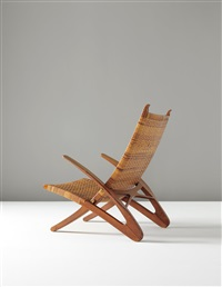 rare dolphin folding armchair, model no. jh510 by hans j. wegner