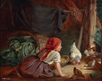 mädchen im hühnerstall by conrad bühlmayer