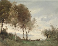 landschaft mit figürlicher staffage by paul désiré trouillebert