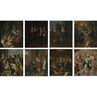 el nacimiento de la virgen (+ 7 others; 8 works) by miguel cabrera