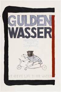 estudo para marca d'agua gulden wasser by gabriela albergaria