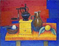 still life with a coffee grinder by georges akopian
