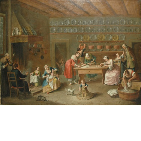 domestic scene by jan josef horemans the younger