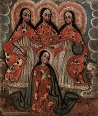 die heilige dreieinigkeit krönt die hl. jungfrau maria by peruvian school (17)
