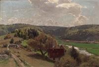 frühlingslandschaft by carl julius e. ludwig