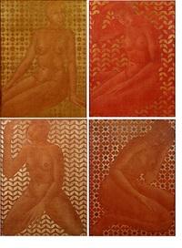 de vier jaargetijden. reeks van vier schilderijen by jozef w. cornelis