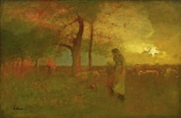 the passing storm by george inness