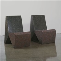 chairs (model granite)(pair) by scott burton