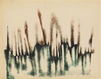 untitled (green and brown abstraction) by norman lewis