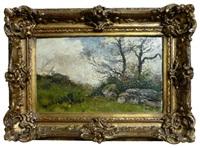 paysage aux rochers by eugene viala