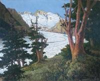 le glacier d'aletch (valois) by georges victor laurent dantu