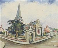 le clocher de l'eglise d'offranville by élisée maclet