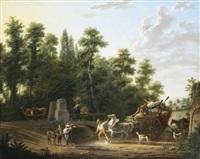 le passage du gué by adolphe eugène gabriel roehn