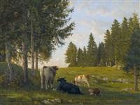 vaches à la joux-perret by edouard jeanmaire