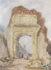 roma, l'arco di tito by henry parsons riviere