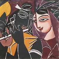 untitled (the flute player) by george keyt