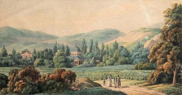 personnages dans un paysage by alexandre jules noel