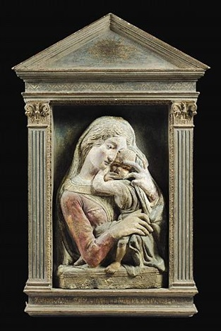 a virgin and child by donatello