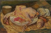nature morte au poulet by michel adlen