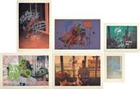 komplett serie med 24 fargeserigrafier i oppbevaringsboks (24 works) by bjarne melgaard