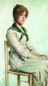 young woman seated by charles frederick ulrich