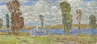 sunny day, long island by childe hassam