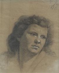 portrait de la mère de l'artiste by mariya konstantinova bashkirtseva