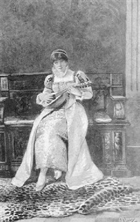 dama con mandolina by casimiro tomba