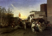 the market place, tunis by anton robert leinweber