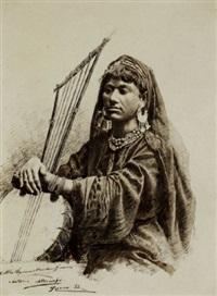 figura femminile con strumento musicale by natale attanasio