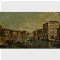 along the venetian canal by canaletto