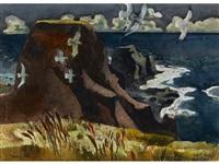 cliffs of mendocino by millard sheets