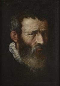 portrait d'homme barbu de trois quart by flemish school (16)