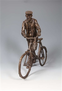 man pushing a bicycle by mark rode
