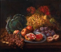 nature morte aux grenades raisins et figues by elie joseph laurent