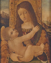 the madonna and child by ambrogio borgognone