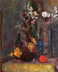still life and flowers by zvi shor