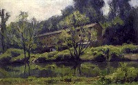 landscape with mill by albert jean adolphe