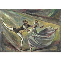 untitled (dancing couple) by hilla rebay von ehrenwiesen