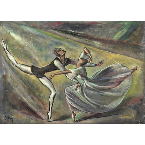 untitled dancing couple by hilla rebay von ehrenwiesen