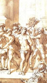 the flagellation by ghislieri apse