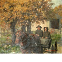 horse & buggy trip to town by ralph d. dunkelberger