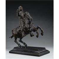 equestrian portrait of archduke ferdinand karl or archduke sigmund franz von habsburg by caspar gras