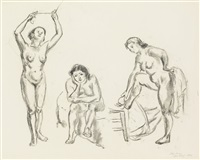 studies of female nudes by john french sloan